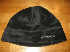 8c26ada2fcb Columbia black fleece beanie hat womens S M tight
