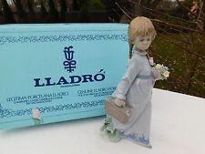 Retired Vintage Lladro - 1988 Collector Society #7604 School Days, Girl