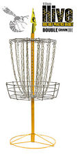 FREE SHIP!! NEW Hive Double Chain Disc Golf Practice Basket - Portable 24 Chains