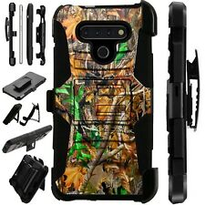 Luxguard For LG Phone Case Holster Kickstand Cover CAMO LEAVES