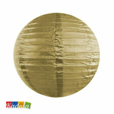Lanterna Carta 20 cm ORO Paper Lantern Decorazioni Matrimonio Wedding Nozze Gold