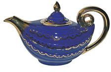 Hall China Aladdin Marine Blue Swag Teapot