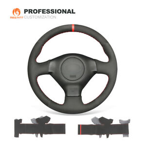 Black Suede Steering Wheel Cover for Subaru Forester Impreza WRX Legacy Outback