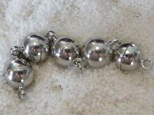 Magnet Verschluss Schließe Kugel rund mit Öse 6 8 10 12 mm gold 1227