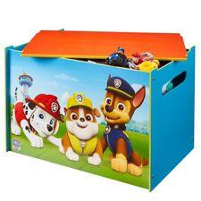 PAW PATROL - Spielzeugkiste HOLZKISTE Truhe Box SITZBANK von Worlds Apart # NEU
