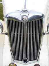 MG Bonnet 2430 Grille Real Photo A4 Metal Sign Aluminium
