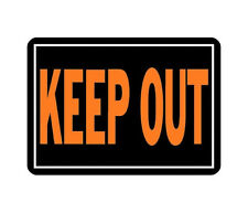 """1 Pack 10"""" x 14"""" Aluminum Medal Posted Keep Out Sign by Hy Ko 807 Fluorescent"""