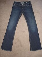 Women's Jeans size 28L (28 X 33 1/2) BKE BUCKLE ADDISON BOOT CUT STRETCH BLUE