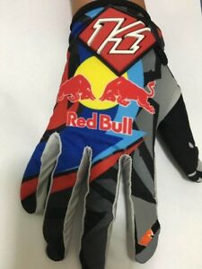 Grey Red Bull Quality Breathable Enduro ktm Gloves Motorcycle cycling 100%
