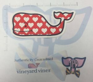 TPW NEW Authentic Vineyard Vines Sticker Heart Whale Chocolate smell Decal