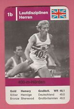German Trade Card 68 Olympics 400m Hurdles Gold Medal David Hemery Great Britain
