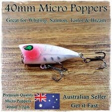 1X FISHING LURES HARDBODY 40MM WHITING POPPER BREAM FLATHEAD POPPERS TOPWATER