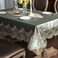 Europe Velvet Lace Tablecloth Square Rectangle Home Decor Embroidery Table Cover