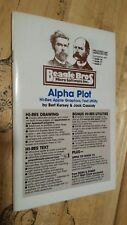 Alpha Plot by Beagle Brothers for Apple II+,IIe,IIc,IIgs 1982