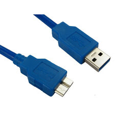2m USB 3.0 Type A Male to Micro B Male Data Cable Lead - Super Fast Speed - Blue