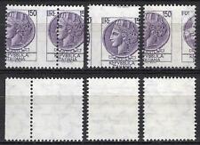 #2000 - Repubblica - 150 lire Siracusana, 1976 - Nuovi (** MNH) / Varietà