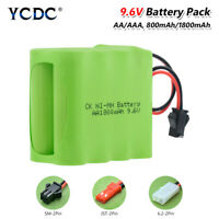 9.6V AA AAA NiMH Ni-MH Battery Pack Rechargeable With L6.2/SM/JST Connector 69F