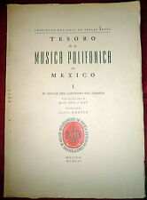 Mexico Polyphonic Music Codex SIGNED by Composer Jesus Bal y Gay to Yfrah Neaman