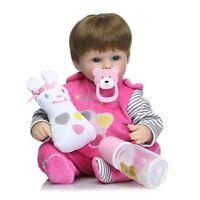 "NPK Lifelike Reborn Baby Dolls Silicone Full Body Kids Playmate Girls Gift 16"""