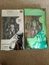 Star wars black series carbonized Boba Fett and Stormtrooper