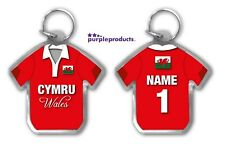 Personalised WALES Rugby Team Supporters Jersey Shirt Keyring