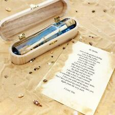 Traditional MESSAGE IN A BOTTLE Keepsake Gift PERSONALISED Presented in Wood Box