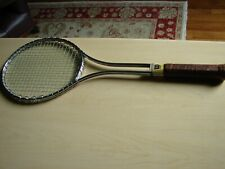 "WILSON T2000 JIMMY CONNERS TENNIS RACQUET 4 5/8"" LEATHER GRIP, SLEEVE CASE"