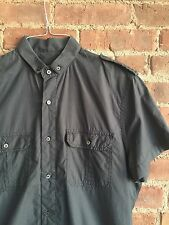 Valentino Red Men's Military Shirt, Black Size 50 Gray Braided Epaulettes