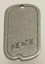 """Original vintage 1960er estados unidos hippie Hippie Peace Dog Tag """"perros marca"""" remolque"""