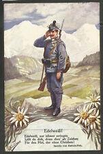 AUSTRIA. WW1. 1916. EDELWEISS CENSORED POSTCARD CARD – INNSBRUCK. C. H. W. LEO S