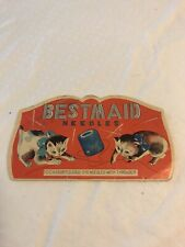 Vintage Sewing Needle Book, Bestmaid Cats Chasing String - Made in Japan