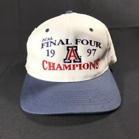 RARE! Vtg NCAA 1997 Arizona Final Four CHAMPIONS Snapback Baseball Hat Cap