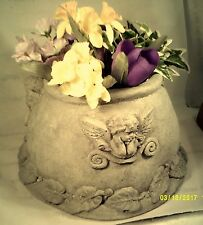 Vintage Weathered Angel Face Planter/ Pot / Garden Statue / Decor