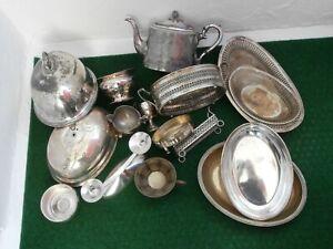 Konvolut Silberschrott versilbert Silberauflage Teekanne Schalen England 5,2 kg