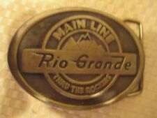 BELT BUCKLE--RIO GRAND, MAINLINE, THRu THE ROCKIES, RAILROAD