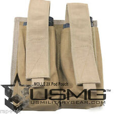 MOLLE 2X Pod Pouch for Tactical Vest (Coyote Tan) [AT5]