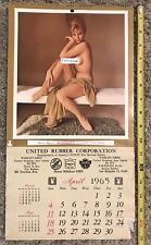 1965 Calendar Page Playboy's Playmate for April  from United Rubber Corporation