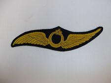 b9584 WW1 Turkey Ottoman Empire Army Aviation Officer Cap Badge Bullion Lg  IR1D
