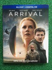 Arrival (Blu-ray/Digital HD, 2016) NEW w/ Slipcover  Amy Adams
