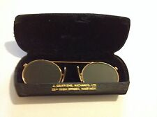 Vintage Pince-Nez Glasses in Case
