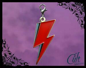 David Bowie Metal and Enamel Pet Cat Dog Collar Charm Alladin Sane lightning.