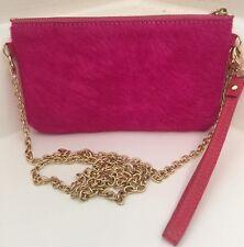 Monserat De Lucca Pelo Pink Calf Hair Pouchette Clutch Crossbody Wristlet
