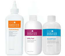 CND Service Essentials CuticleAway + Offly Fast Remover + ScrubFresh Cleanser