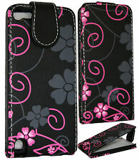 Floral Flower Fancy Leather Flip Pouch Case Cover For Apple IPod Touch 5 5th Gen