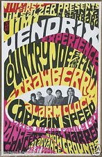 Jimi Hendrix Experience  Authentic Original  Vintage 1967 Concert Promo Poster