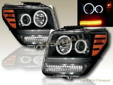 2007 - 2011 Dodge Nitro Dual Twin CCFL Halo Projector LED Headlights Black NEW
