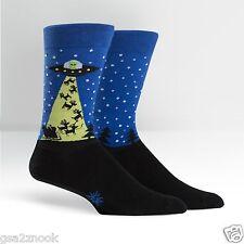 The Aliens Who Stole Christmas Dress Crew Socks NWT Men's Shoe Size 9-13 SITM*