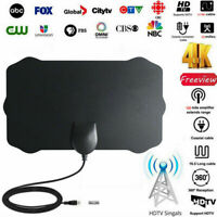 1080P 4K Antenna TV Digital HD 300 Mile Range Skywire Indoor 16ft Coax Cable