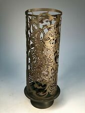 Thai Candle Holder and Screen Dancing Goddess Arts and Crafts Pottery Vase