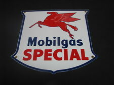 MOBILGAS SPECIAL SHIELD PORCELAIN SIGN